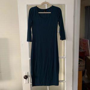 Forever 21 Dresses - Teal Midi Bodycon Dress